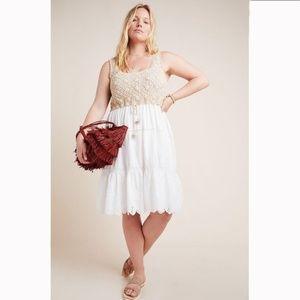 Anthropologie Beckett Crochet Eyelet Dress  NWT